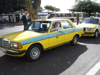 300D saloon still earning its keep in Madeira in 2008 (yours truly at the wheel)