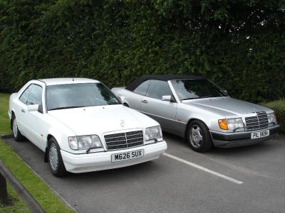 E320 Coupe from 1994 and our own 320CE Cabriolet from 1993